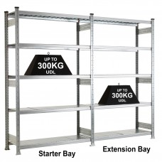 Medium Duty Galvanised Shelving Extension Bays BRG20945E