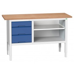 Bott Verso Height Adjustable Storage Benches 1500mm Wide 16923012