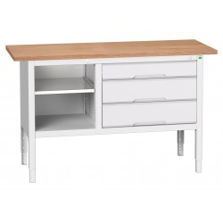 Bott Verso Height Adjustable Storage Benches 1500mm Wide 16923013