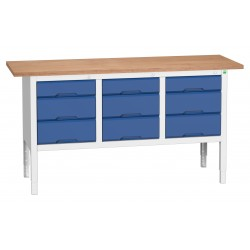 Bott Verso Height Adjustable Storage Benches 1750mm Wide 16923023