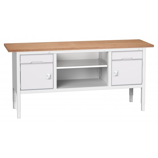 Bott Verso Height Adjustable Storage Benches 2000mm Wide 16923031