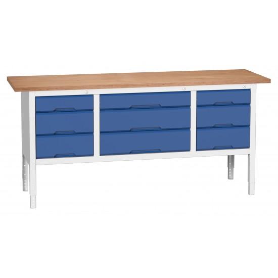 Bott Verso Height Adjustable Storage Benches 2000mm Wide 16923033