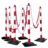GUARDA Post & Chain Sets 'Solid Rubber Bases' 175.19.176