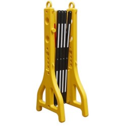 Portable 2500mm Concertina Plastic Folding Barrier PFB2500