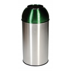40 Litre Stainless Steel Coloured Dome Bins