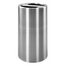 2 Compartment Aluminium Recycling Bin V100ALU