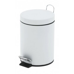 30 Litre Pedal Operated Bin White & Stainless Steel