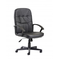 Cavalier Medium Back Leather Managers Chair