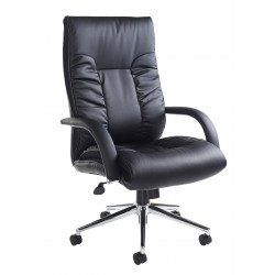 Derby Black Leather Executive Managers Chair