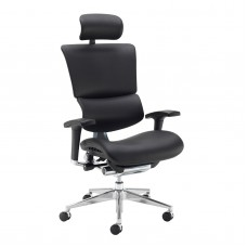 Dynamo Ergo 24hr Ergonomic Leather Faced Posture Chair