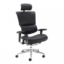 Dynamo Ergo 24hr Ergonomic Leather Faced Posture Chair