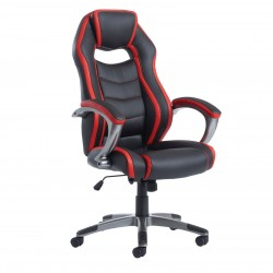 Jensen High Back Black/Red Executive Managers Chair