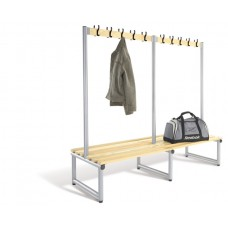 Probe Double Sided Round Tube Cloakroom Bench