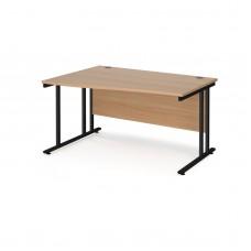 Maestro 25 Cantilever Frame Left Hand Wave Desk