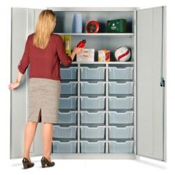 18 Tray Storage Education Teachers Cupboards