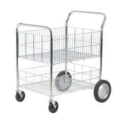 Chrome Wire Basket Trolley SWI52Y