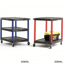 Plastic Service Trolleys With Coloured Legs GI841L