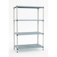MetroMax Q Polymer 4 Shelf Shelving Bays SMQ631824G