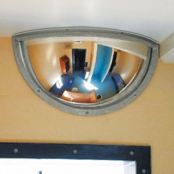 Institutional Wall Mounted Stainless-Steel Security Mirror
