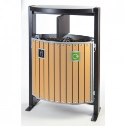 Ajax Wood Effect Waste Bin