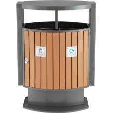 Ajax Wood Effect Waste Bin