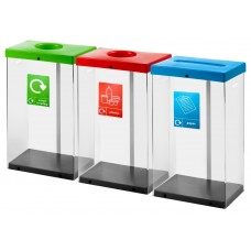 60 Litre Clear Body Recycling Bins CLR60