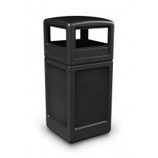 Outdoor Square 140 Litre Litter Bin With Dome Lid