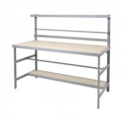 Economy Packaging Bench With Shelf & Rail EB-251