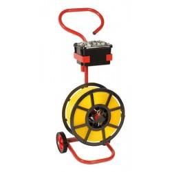 Mobile Dispenser For Polypropylene Strapping On Plastic Reels