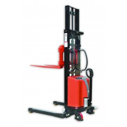 Semi Electric Straddle Stacker With Adjustable Forks
