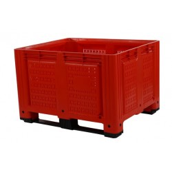 660 Litre Vented Plastic Box Pallets Red