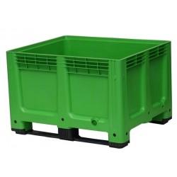 610 Litre Solid Plastic Box Pallets Green