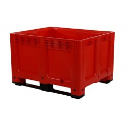 610 Litre Solid Plastic Box Pallets Red