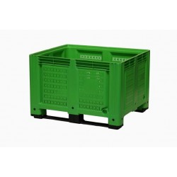 660 Litre Vented Plastic Box Pallets Green