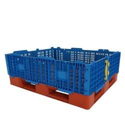 Folding Plastic Pallet Collars (Blue) 1200 x 1000mm