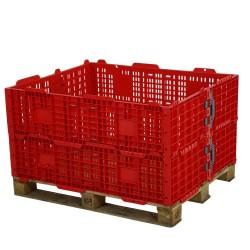 Folding Plastic Pallet Collars (Red) 1200 x 1000mm