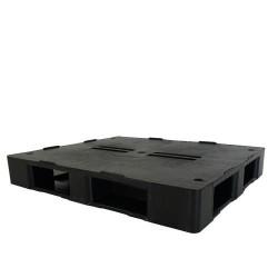 Black Plastic Open Deck Plastic Pallet PP1210EP3