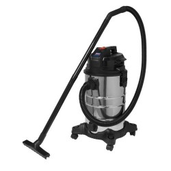 Low Noise Wet & Dry 30L 1000W Stainless Vacuum CLeaner PC30LN