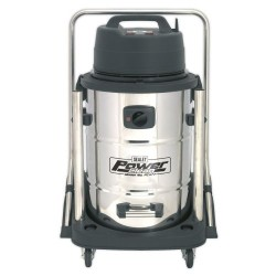 Wet & Dry 77L 2400W Stainless Drum Vacuum Cleaner PC477