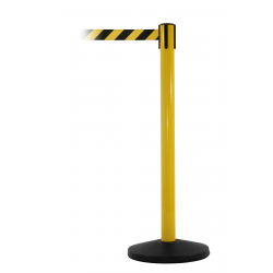 Safety Master Yellow Free-Standing Retractable Belt Barrier