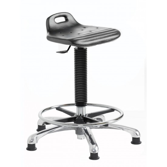 Polyurethane Chrome Base Hygienic Posture Stool PS2-H-CH