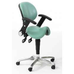 Upholstered Saddle Stool With Adjustable Arms And Backrest SA.BR.A 5
