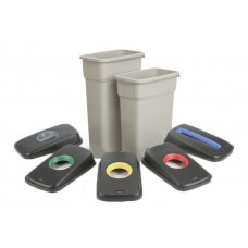 Slim Grey Plastic Recycling Bins