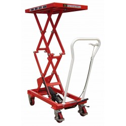 Premium Manual Operated 150kg Mobile Double Scissor Lift