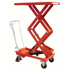 Premium Manual Operated 300kg Mobile Double Scissor Lift
