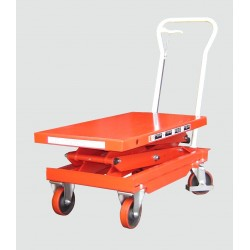 Premium Manual Operated 800kg Mobile Double Scissor Lift