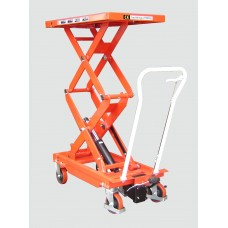 Premium Manual Operated 800kg Mobile Double Scissor Lift