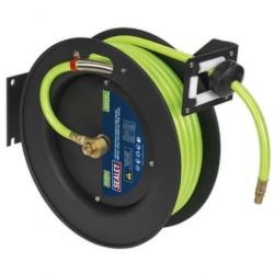 Retractable Hi-Viz TPR Air Hose Reels 15mm Dia (Rubber Hose) SA841HV