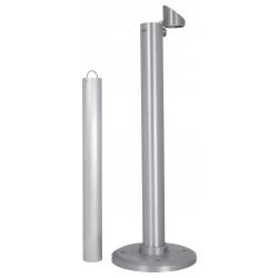 Aluminium Floor Standing Smoking Pole