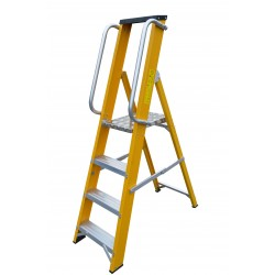 Heavy Duty Glassfibre Platform Step With Handrails GFBP3HR